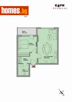 Двустаен, 74m² - Апартамент за продажба - АЛЕКСАНДЪР ИМОТИ ЕООД - 51657798