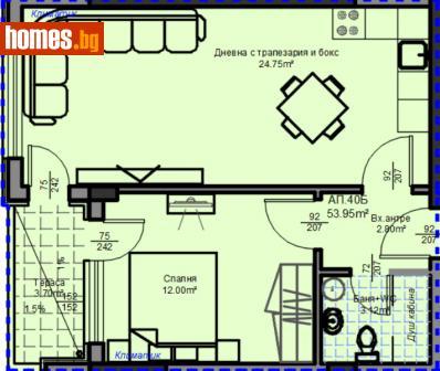 Двустаен, 70m² - Апартамент за продажба - 53463021