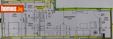 Двустаен, 96m² - Апартамент за продажба - 54557942