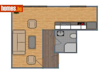 Едностаен, 39m² - Апартамент за продажба - 54721566