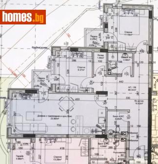 Тристаен, 108m² - Апартамент за продажба - 60010926