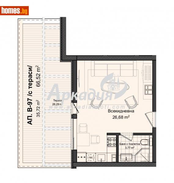 Едностаен, 78m² - Кв. Кършияка, Пловдив - Апартамент за продажба - АРКАДИЯ НЕДВИЖИМИ ИМОТИ - 66898709