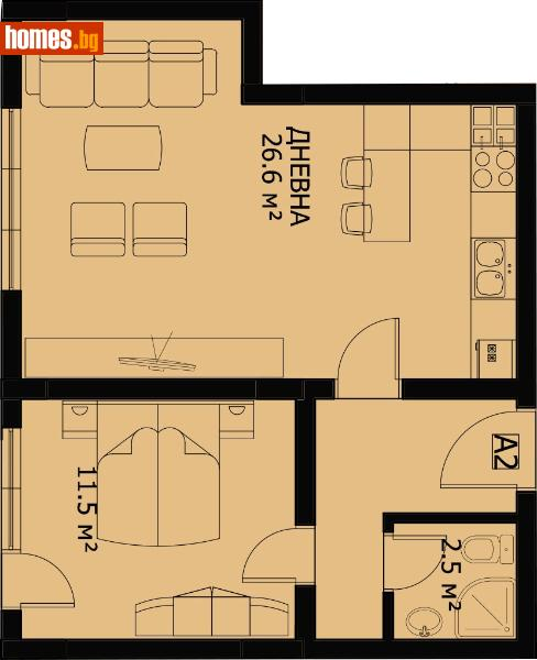 Двустаен, 60m² - Кв. Беломорски, Пловдив - Апартамент за продажба - Филипополис БФА - 67244252