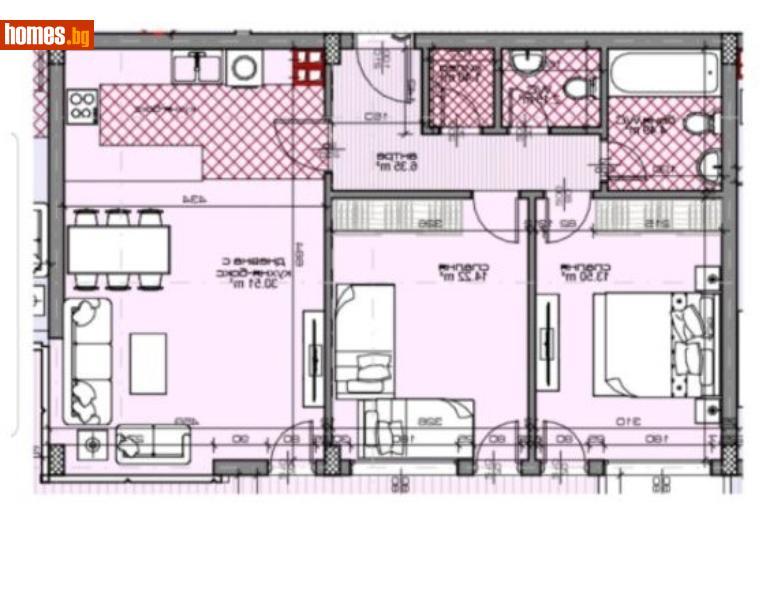 Тристаен, 85m² - Жк. Тракия, Пловдив - Апартамент за продажба - Филипополис БФА - 67255668