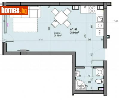Едностаен, 47m² - Апартамент за продажба - 67256702