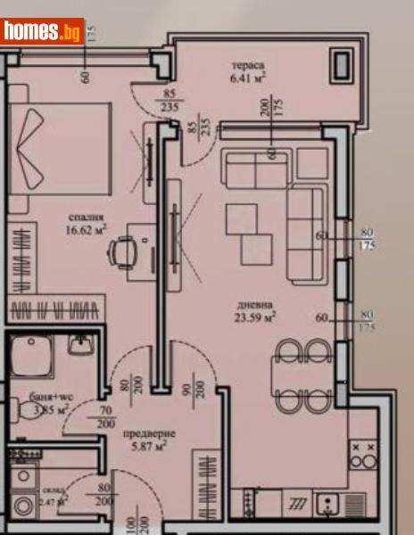 Двустаен, 82m² -  Студентски Град, София - Апартамент за продажба - Musalla - 67599367