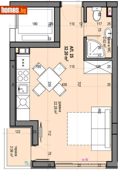 Едностаен, 51m² - Жк. Гагарин, Пловдив - Апартамент за продажба - Филипополис БФА - 67664230