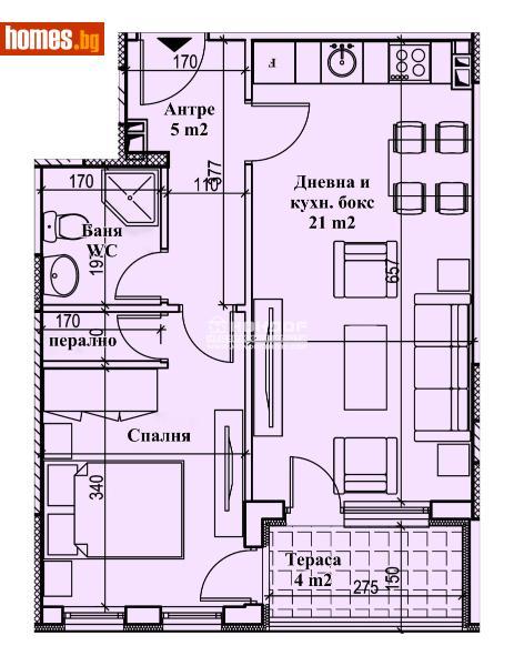 Двустаен, 63m² - Кв. Кършияка, Пловдив - Апартамент за продажба - КОНДОР НЕДВИЖИМИ ИМОТИ - 72889488