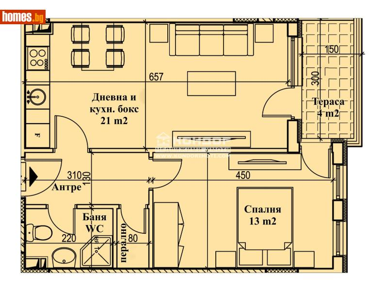 Двустаен, 64m² - Кв. Кършияка, Пловдив - Апартамент за продажба - КОНДОР НЕДВИЖИМИ ИМОТИ - 72890787