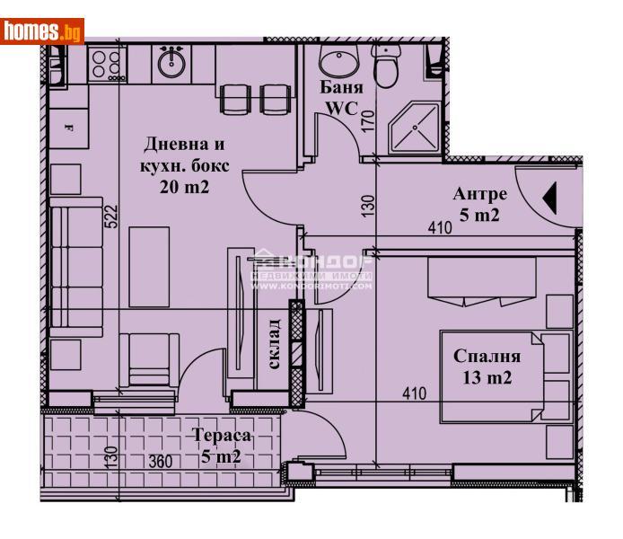 Двустаен, 63m² - Кв. Кършияка, Пловдив - Апартамент за продажба - КОНДОР НЕДВИЖИМИ ИМОТИ - 72951652