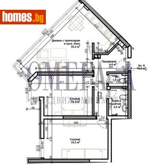 Тристаен, 95m² - Апартамент за продажба - 75004652