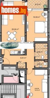 Тристаен, 111m² - Апартамент за продажба - 75384595
