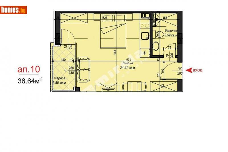 Едностаен, 45m² - Кв. Малинова Долина, София - Апартамент за продажба - МИРЕЛА - 75611614